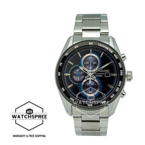 Seiko Criteria Solar Chronograph Watch SSC401P1 (Not for EU Buyers)
