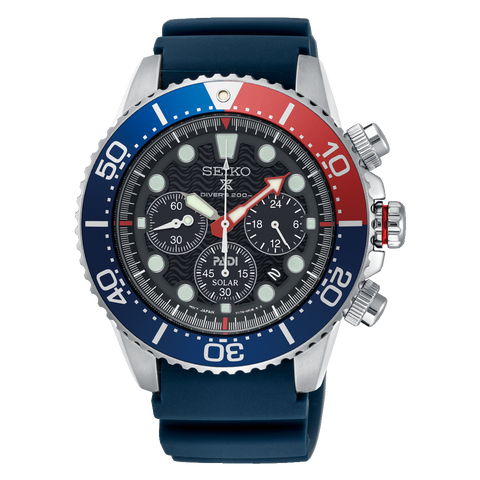 Seiko Prospex and PADI Air Diver Special Edition Blue Silicone Strap Watch SSC663P1 (Not for EU Buyers)