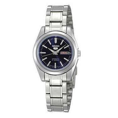 Seiko 5 Women's Automatic Silver Stainless Steel Band Watch SYMK15K1