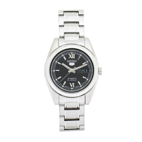 Seiko Women's Automatic Silver Stainless Steel Band Watch SYMK27K1