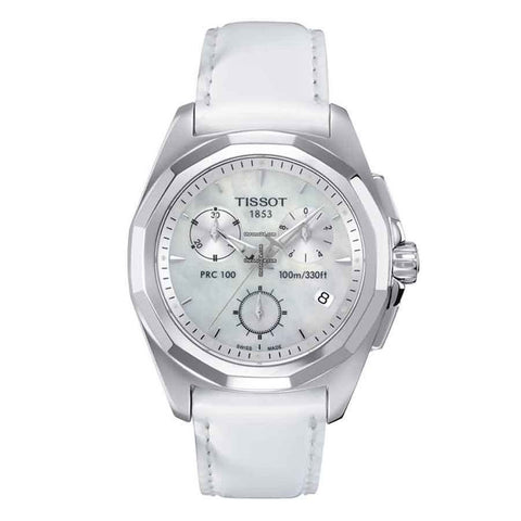 Tissot PRC 100 Chronograph Silver Dial 33 mm Ladies Watch T008.217.16.111.00