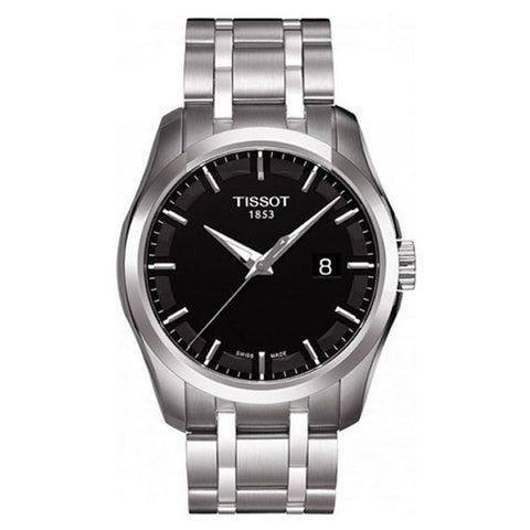 Tissot Couturier Black Dial Stainless Steel 39 mm Men's Watch T035.410.11.051.00 [Pre-order]