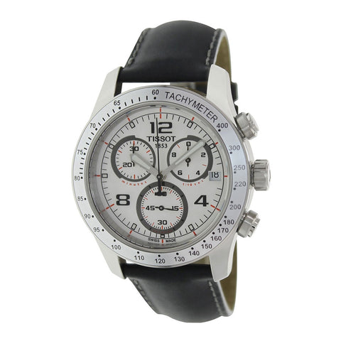 Tissot V8 Chronograph White Dial Stainless Steel 42.5 mm Men's Watch T039.417.16.037.02 [Pre-order]