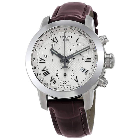 Tissot T-Sport Chronograph Silver Dial 35 mm Ladies Watch T055.217.16.033.01