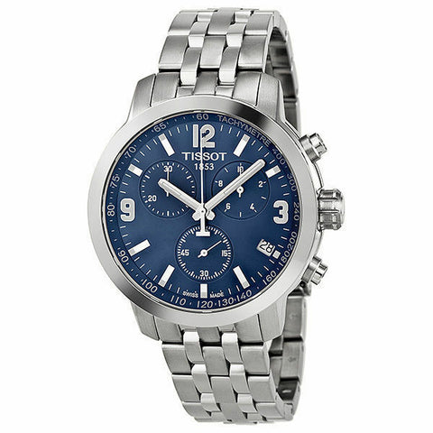 Tissot PRC 200 Chronograph Blue Dial 42 mm Men's Watch T055.417.11.047.00 [Pre-order]