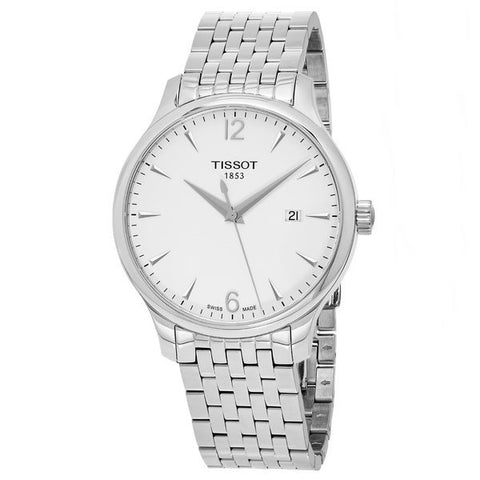 Tissot Tradition Silver Dial Stainless Steel 42 mm Men's Watch T063.610.11.037.00 [Pre-order]