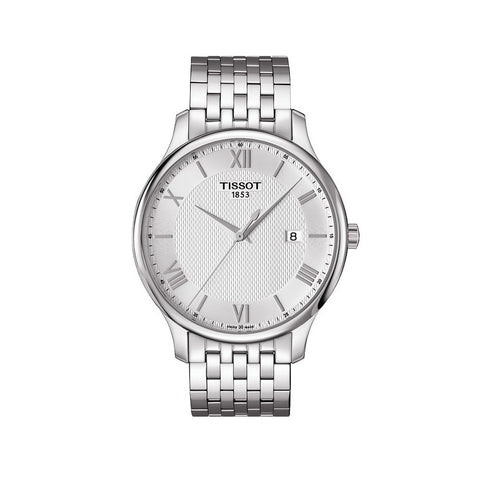 Tissot Tradition Silver Dial Stainless Steel 42 mm Men's Watch T063.610.11.038.00 [Pre-order]