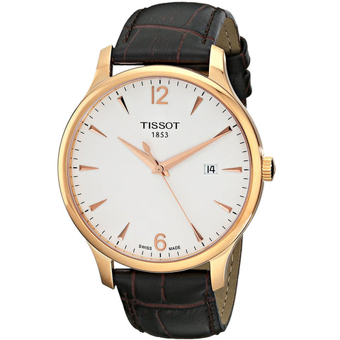 Tissot Tradition Rose Gold PVD 42 mm Men's Watch T063.610.36.037.00