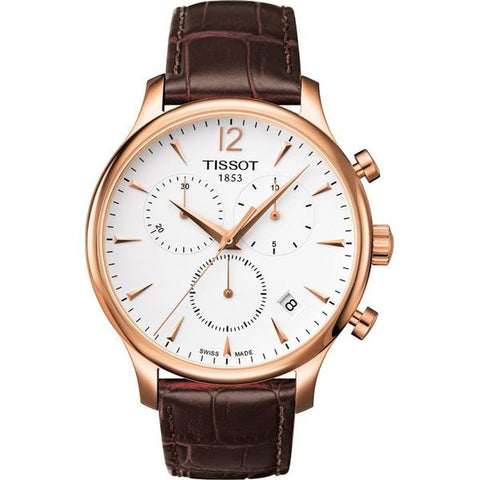 Tissot Tradition Classic Chronograph Rose Gold-plated 42 mm Men's Watch T063.617.36.037.00