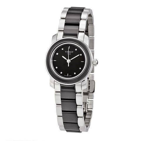 Tissot T-Trend Black Ceramic Diamond 28 mm Ladies Watch T064.210.22.056.00