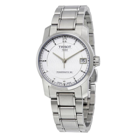 Tissot T-Classic Titanium Automatic Silver Dial 32 mm Ladies Watch T087.207.44.037.00
