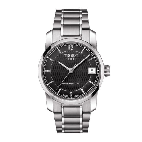 Tissot T-Classic Automatic Black Dial Titanium 32 mm Ladies Watch T087.207.44.057.00 [Pre-order]