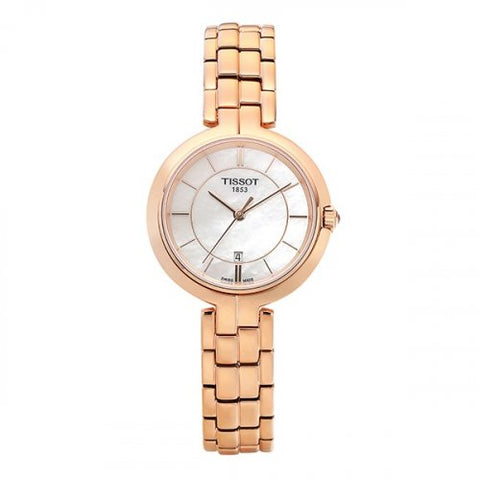 Tissot Flamingo White Mother of Pearl Dial 26 mm Ladies Watch T094.210.33.111.01