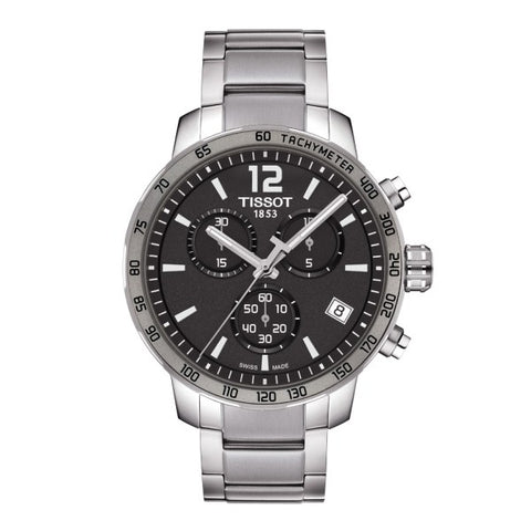 Tissot Quickster Chronograph Anthracite Dial Stainless Steel 42 mm Men's Watch T095.417.11.067.00 [Pre-order]