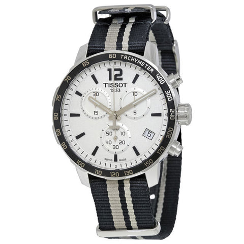 Tissot Quickster Chronograph Silver Dial 42 mm Men's Watch T095.417.17.037.10 [Pre-order]