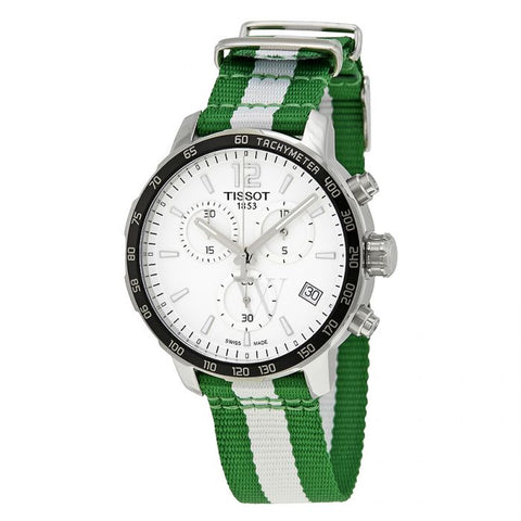 Tissot Quickster Boston Celtics Chronograph 42 mm Men's Watch T095.417.17.037.17 [Pre-order]