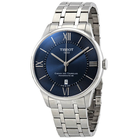 Tissot Chemin Des Tourelles Automatic Blue Dial 32 mm Ladies Watch T099.207.11.048.00