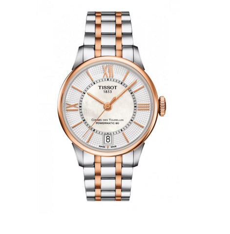 Tissot Chemin des Tourelles Automatic Mother of Pearl Dial 32 mm Ladies Watch T099.207.22.118.02