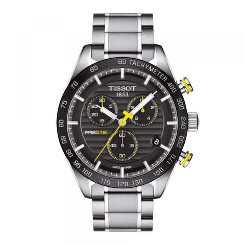 Tissot PRS 516 Chronograph Black Dial 42 mm Men's Watch T100.417.11.051.00 [Pre-order]