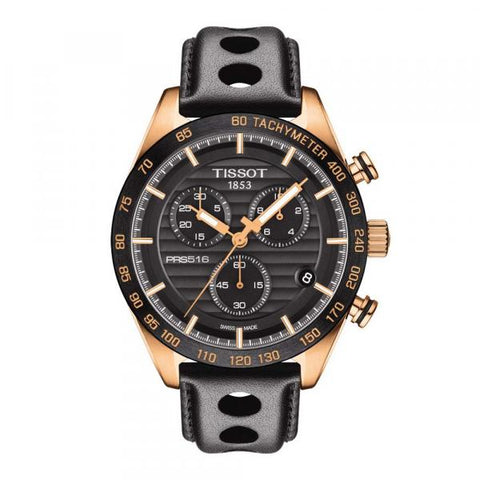 Tissot PRS 516 Chronograph Black Dial 42 mm Men's Watch T100.417.36.051.00 [Pre-order]