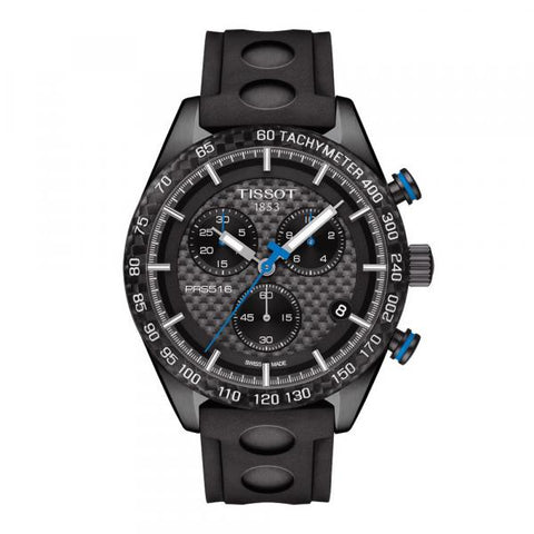 Tissot PRS 516 Chronograph Black Carbon Dial 42 mm Men's Watch T100.417.37.201.00 [Pre-order]