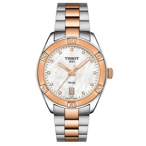 Tissot PR100 Diamond White Mother of Pearl Dial 36 mm Ladies Watch T101.910.22.116.00 [Pre-order]