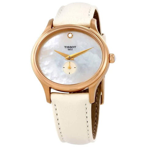 Tissot Bella Ora White Mother of Pearl Dial 31.4 mm x 28 mm Ladies Watch T103.310.36.111.00 [Pre-order]