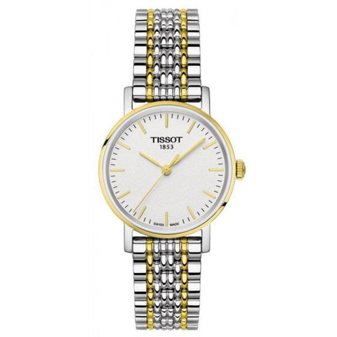 Tissot T-Classic Everytime White Dial 30 mm Ladies Two Tone Watch T109.210.22.031.00 [Pre-order]