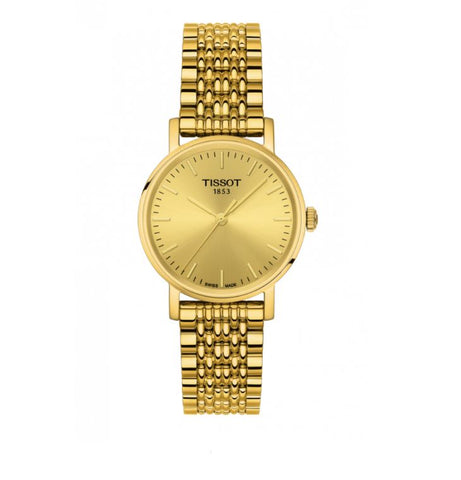Tissot T-Classic Champagne Dial 30 mm Ladies Watch T109.210.33.021.00 [Pre-order]