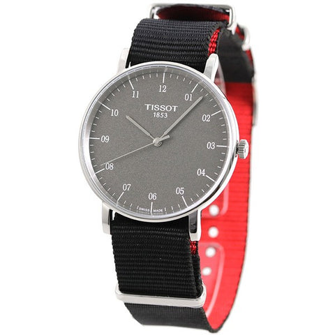 Tissot T-Classic Everytime Black Dial 38mm Men's Quartz Watch T109.410.17.077.00