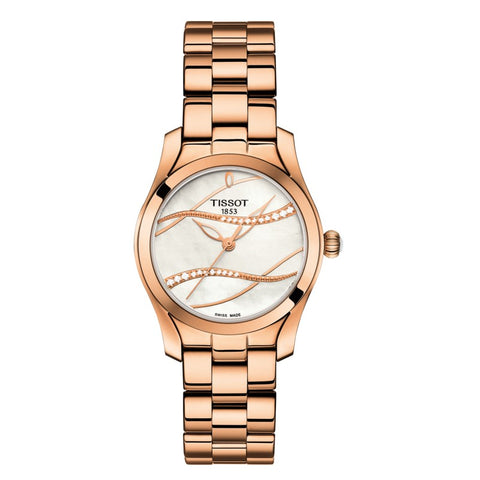 Tissot T-Wave Mother of Pearl Diamond Dial 30 mm Ladies Watch T112.210.33.111.00 [Pre-order]