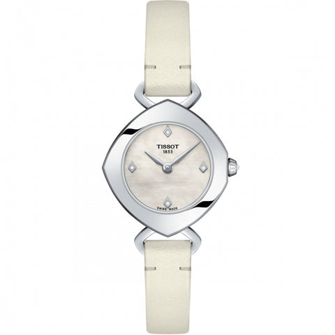 Tissot Femini-T Mother of Pearl Diamond Dial 24.8 mm x 22.58 mm Ladies Watch T113.109.16.116.01