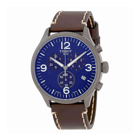 Tissot T-Sport Chronograph XL Blue Dial 45 mm Men's Leather Watch T116.617.36.047.00 [Pre-order]
