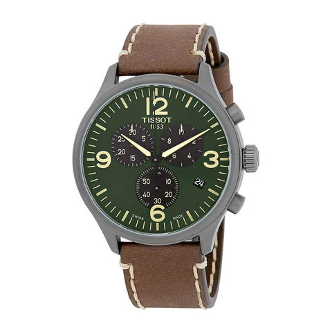 Tissot T-Sport Chronograph XL Olive Green Dial 45 mm Men's Watch T116.617.36.097.00 [Pre-order]