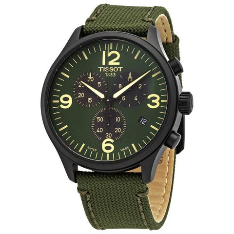 Tissot Chrono XL Quartz Green Dial 45 mm Men's Watch T116.617.37.097.00 [Pre-order]