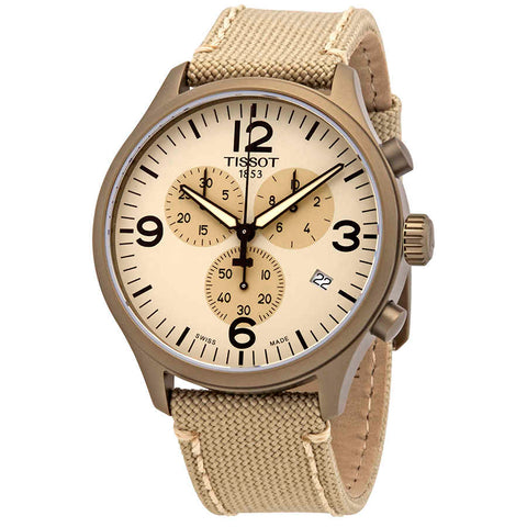 Tissot Beige Dial 45 mm Men's Chonograph Watch T116.617.37.267.01 [Pre-order]