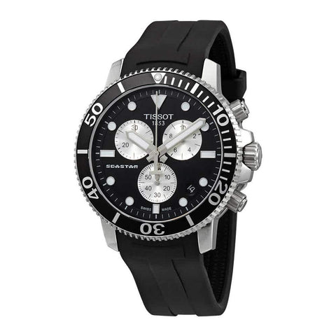 Tissot Seastar 1000 Chronograph Black Dial 45.5 mm Men's Watch T120.417.17.051.00 [Pre-order]