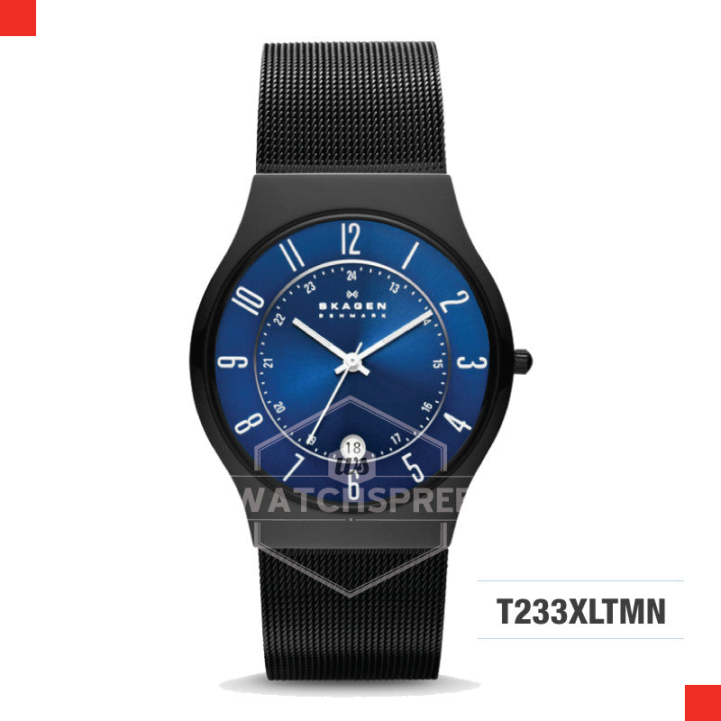 Skagen Men Denmark Black Titanium Watch T233XLTMN
