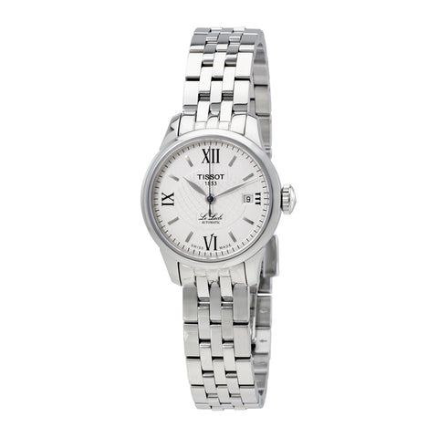Tissot Le Locle Silver Diamond Dial Automatic 25.3 mm Ladies Watch T41.1.183.16