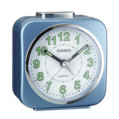 Casio Standard Traveller's Blue Resin Table Clock TQ143-2D TQ143-2