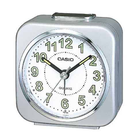Casio Standard Traveller's Silver Resin Table Clock TQ143-8D TQ143-8