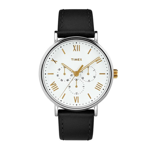 Timex Men's Southview 41mm Leather Strap Watch TW2R80500 | Watchspree