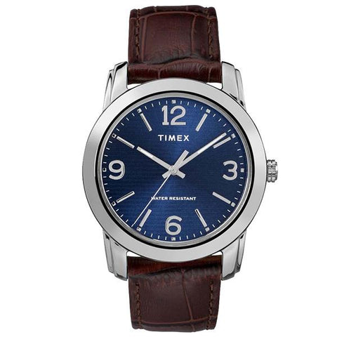 Timex Men's Classic Brown Leather Strap Watch TW2R86800 | Watchspree