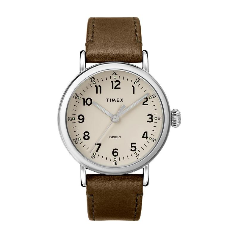 Timex Men's Standard 40mm Leather Strap Watch TW2T20100