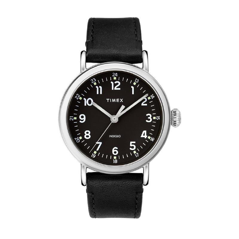 Timex Men's Standard 40mm Leather Strap Watch TW2T20200