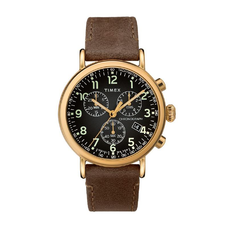 Timex Men's Standard Chronograph 41mm Leather strap TW2T20900