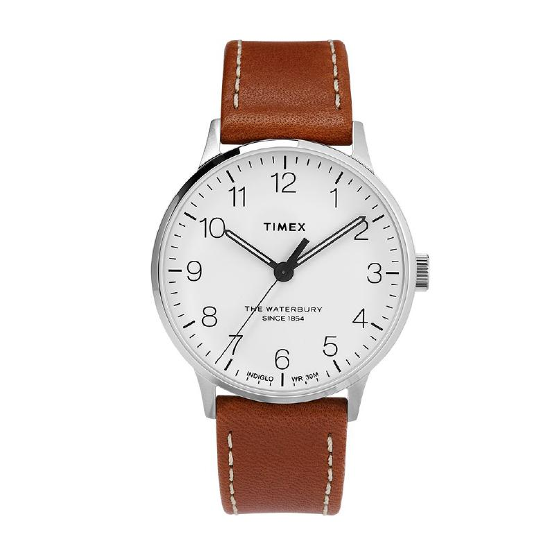 Timex Men's Waterbury Classic 40mm Leather Strap Watch TW2T27500