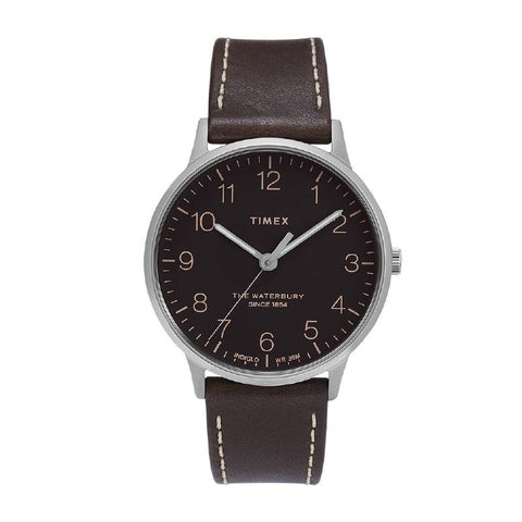 Timex Men's Waterbury Classic 40mm Leather Strap Watch TW2T27700