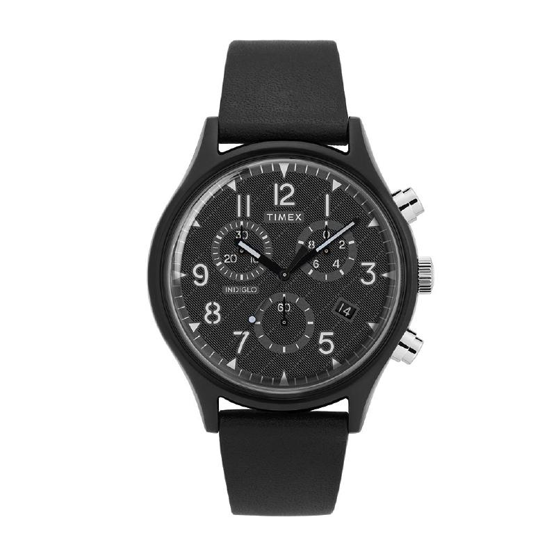 Timex Men's MK1 Supernova Chronograph Leather Strap Watch TW2T29500