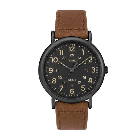 Timex Men's Weekender 40mm 2-Piece Quick Release Leather Strap Watch TW2T30500